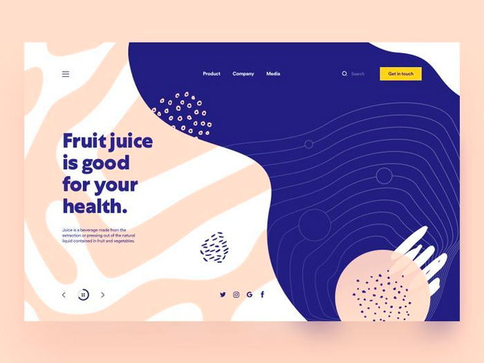 orginic forms webdesign trends