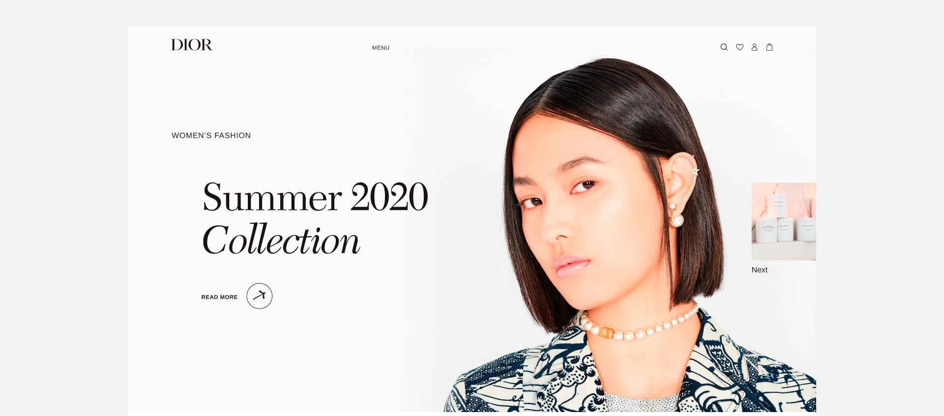Сайт Dior