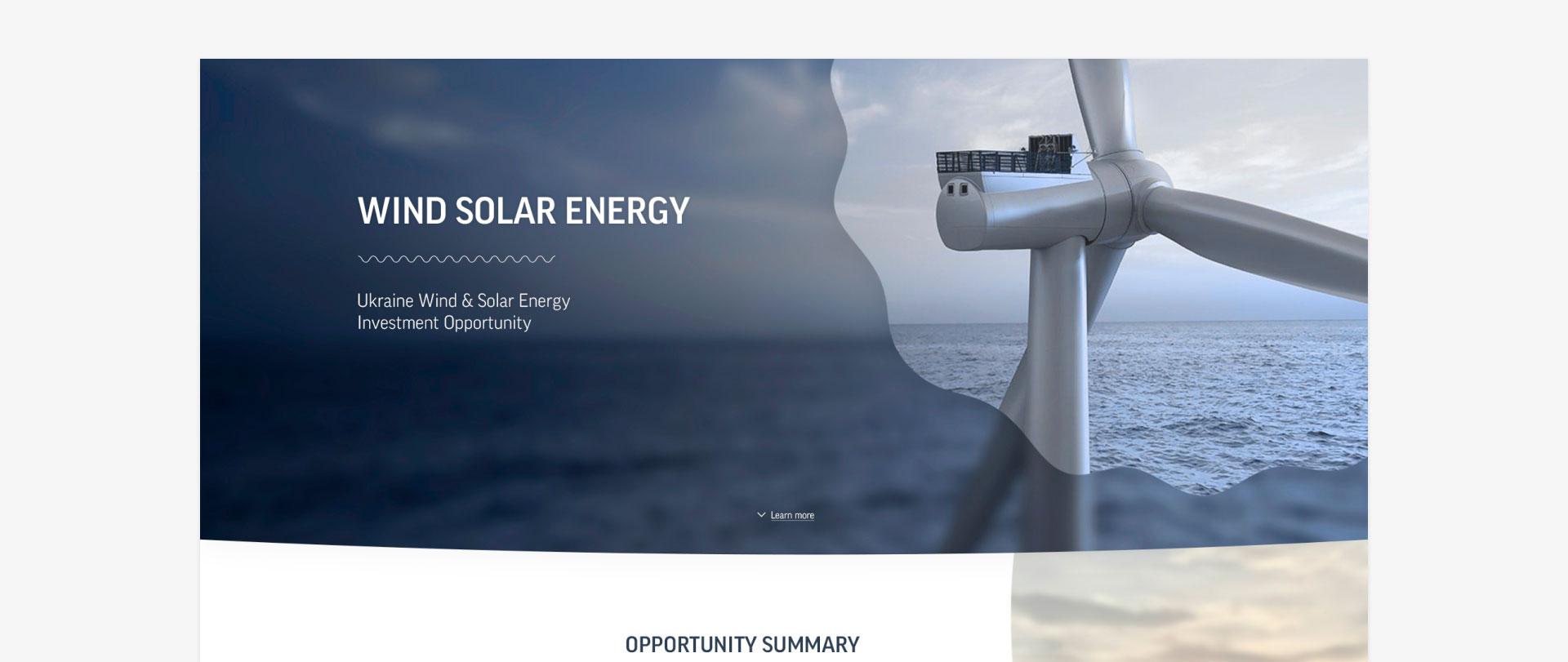 Сайт Wind Solar Energy