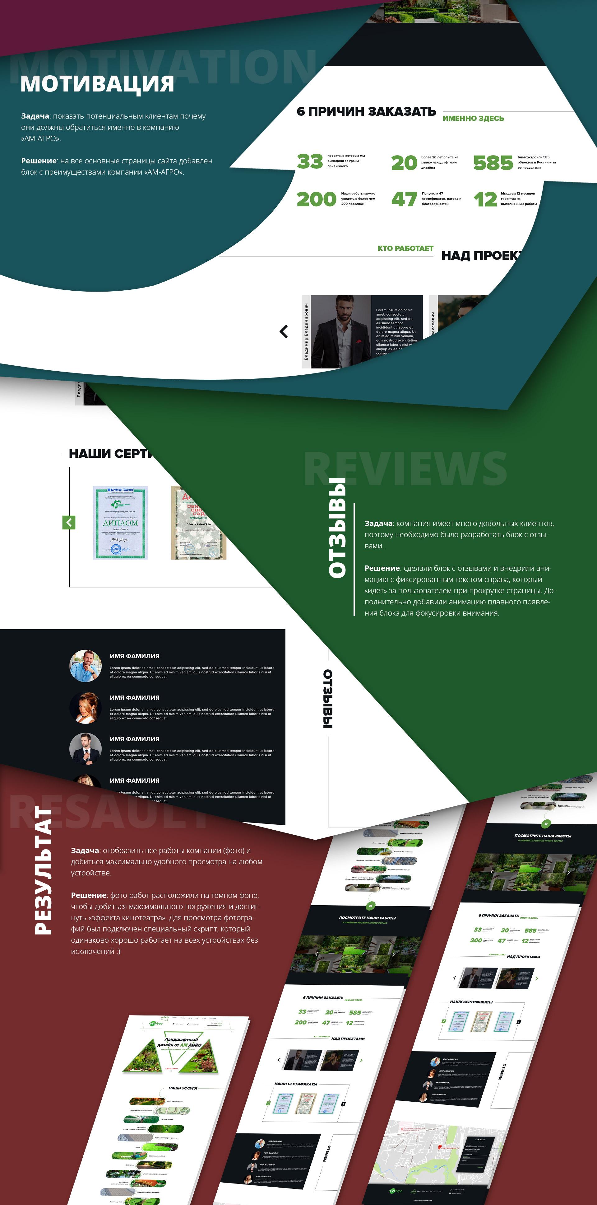 Дизайн агро сайта